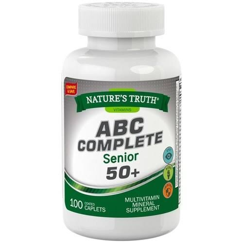 Natures Truth Abc Complete Senior 50+ Multivitamin - 100 Caplets