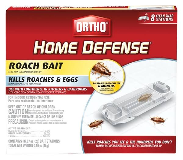 Ortho Home Defense Ready-To-Use Roach Bait - 8 Pack