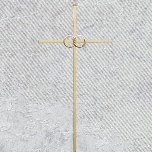 "8"" Wedding Cana Cross Gold"