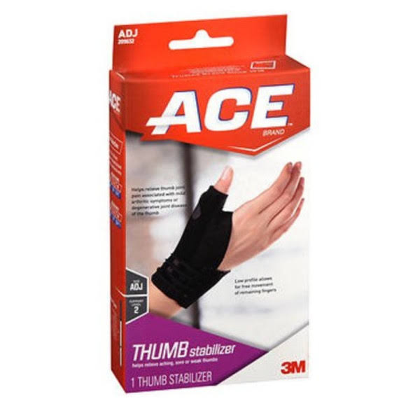Ace Adjustable Thumb Stabilizer - Black, One Size