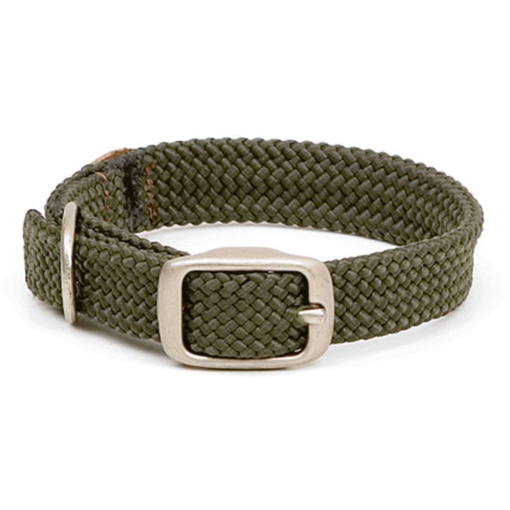 Mendota Products Double Braid Dog Collar, Olive, 24-In
