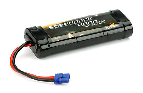 Dynamite SpeedPack 4500mAh Ni-Mh 6 Cell Flat Batteries with EC3 Connection
