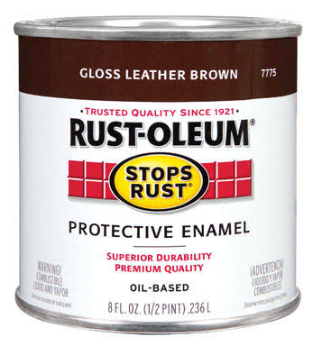 Rust-Oleum Protective Enamel Paint - Gloss Leather Brown, .236ml
