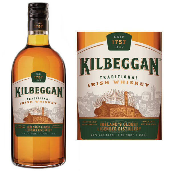 Kilbeggan Irish Whiskey - 750ml