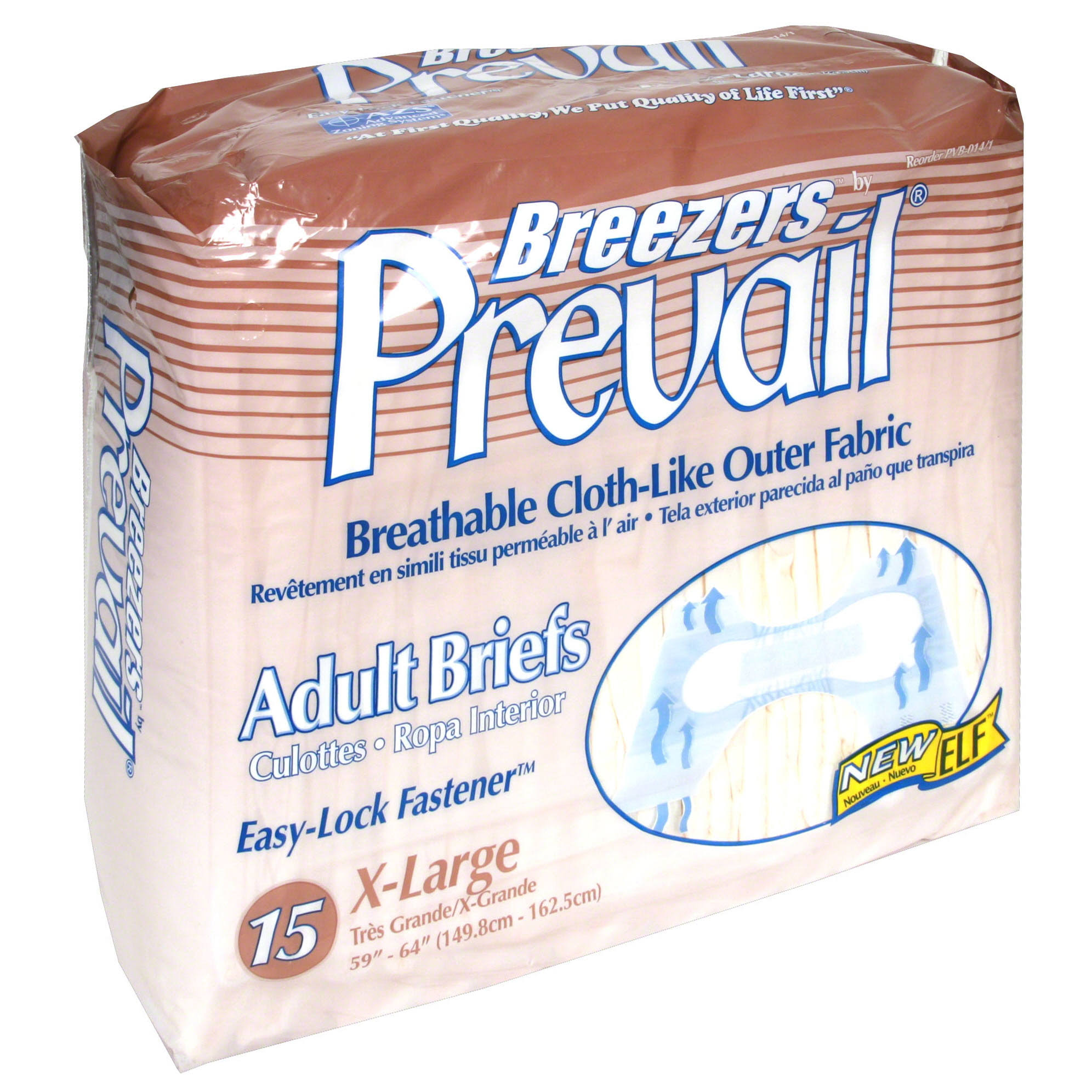Prevail Breezers Adult Briefs - X-Large, 15 ct