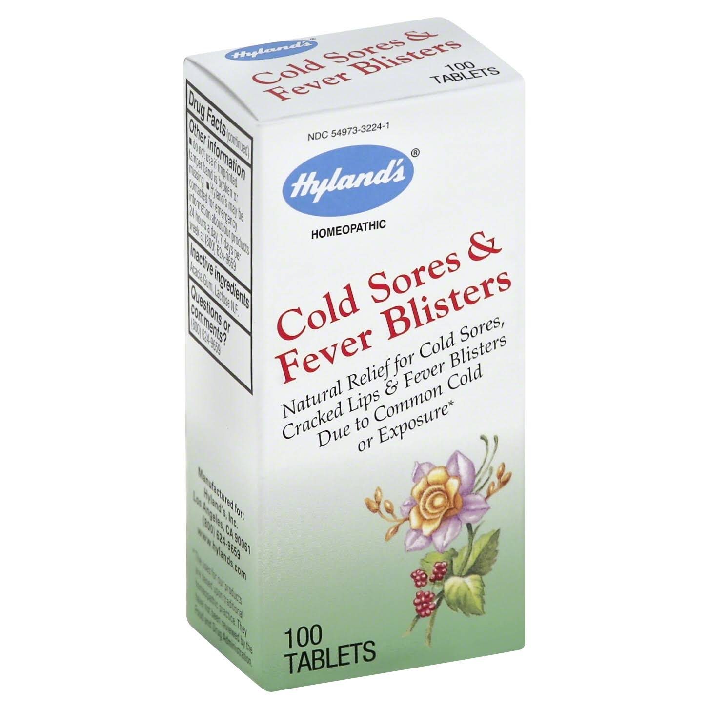 Hylands Cold Sores & Fever Blisters - 100 Tablets
