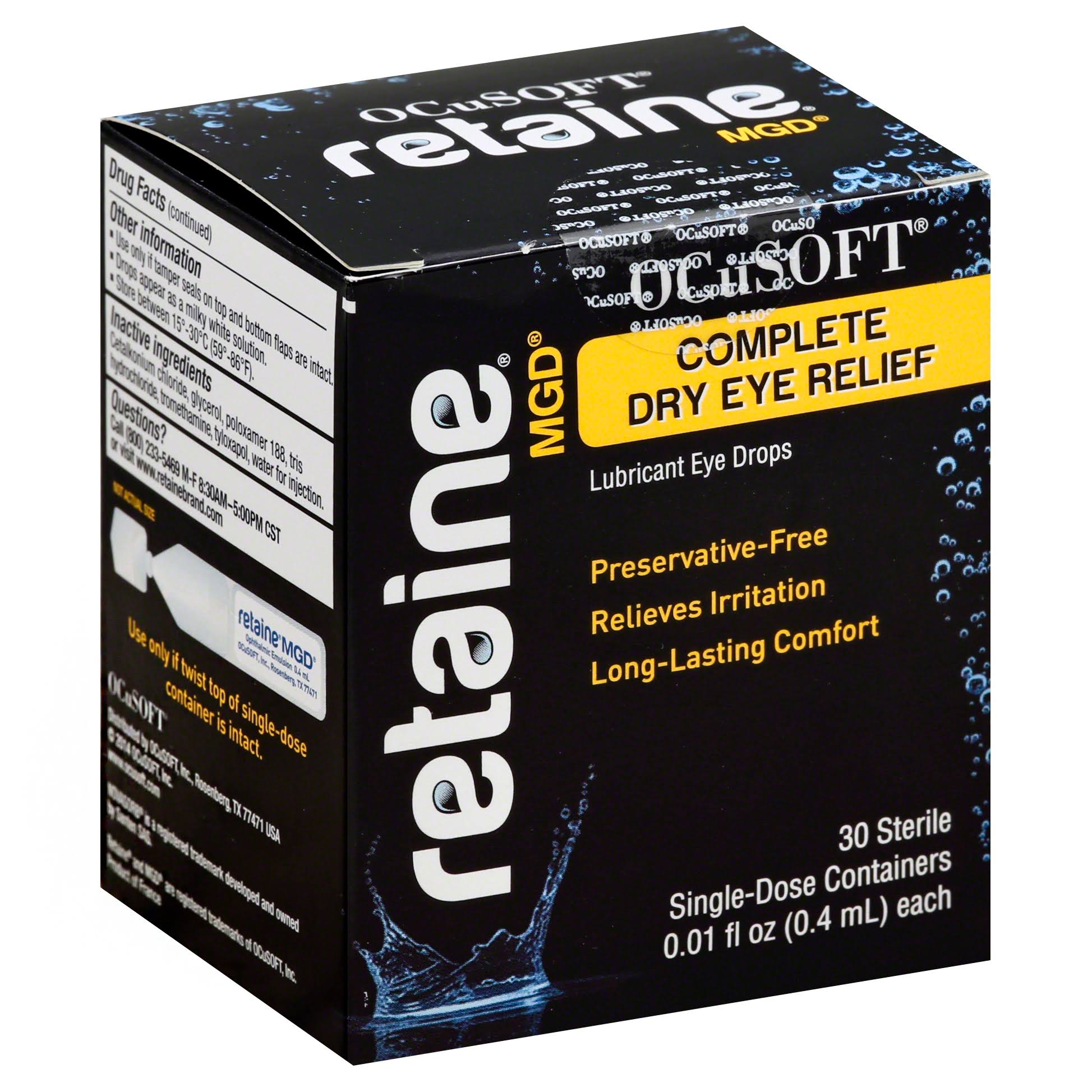 Ocusoft Retaine Mgd Complete Dry Eye Relief - 30 Sterile Single-Dose Containers