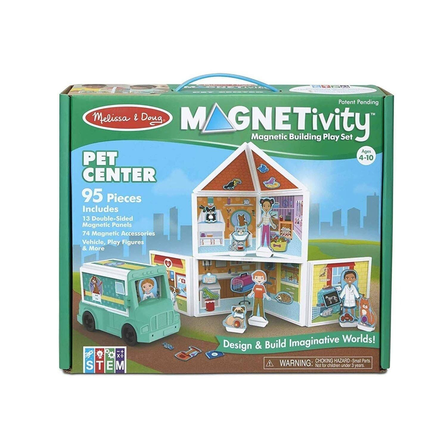 Melissa & Doug Building Play Set Pet Center Magnetivity Magnetic