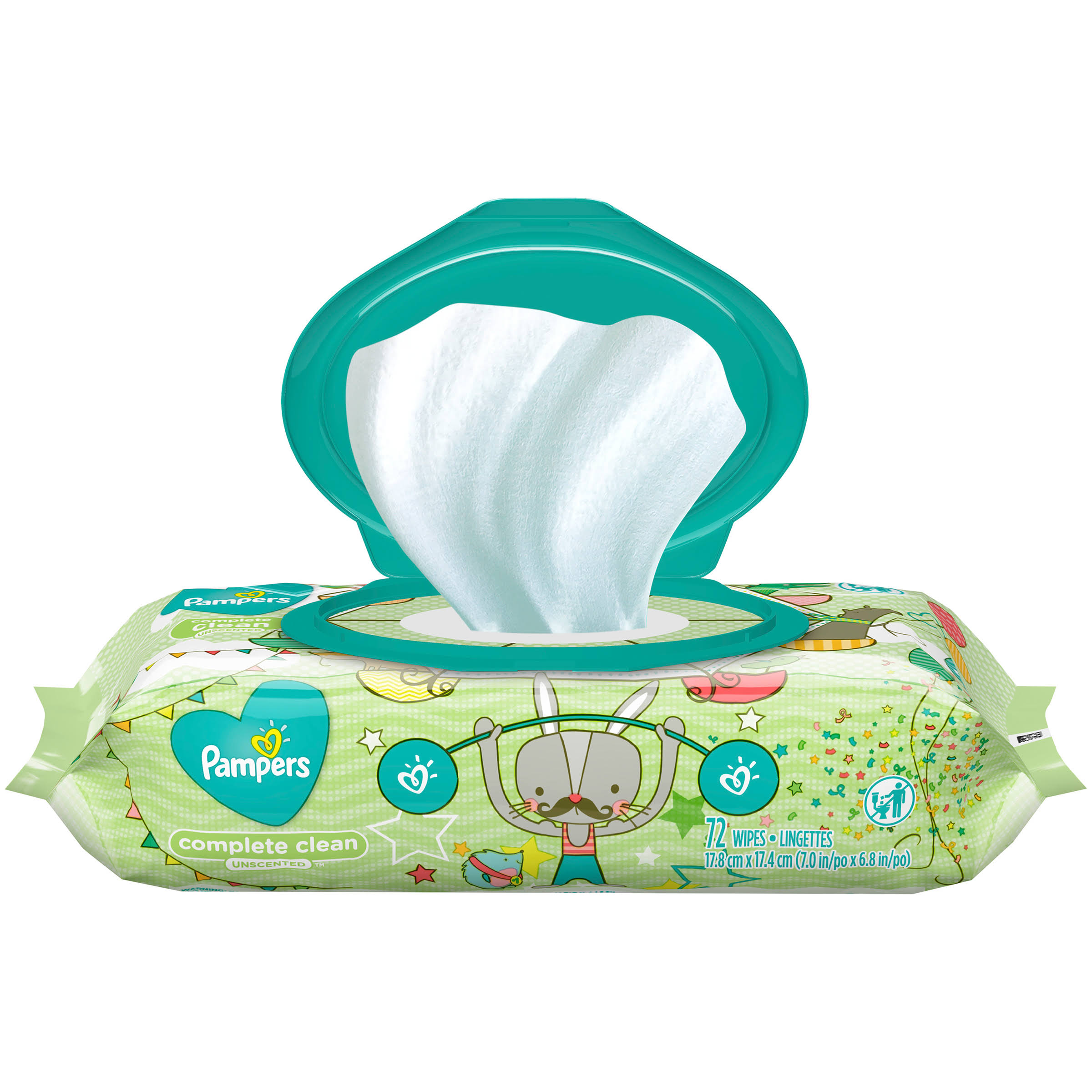 Pampers Complete Clean Baby Wipes - Unscented, 72 Wipes