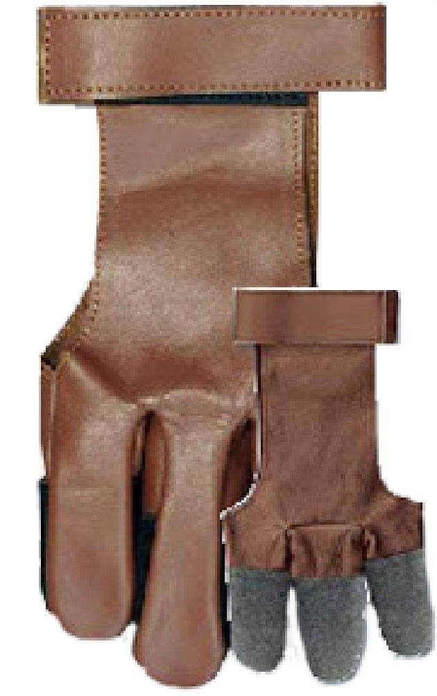Western Recreation Vista Full Finger Leather Gloves - Large, Brown