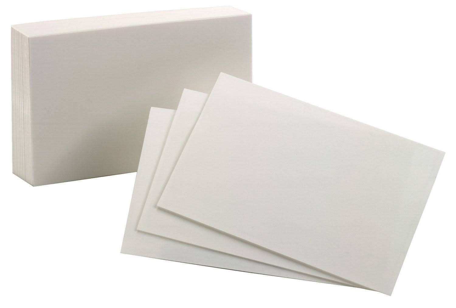 Oxford 40156-Sp Blank Index Cards - White, 10cm x 15cm, 100 Count