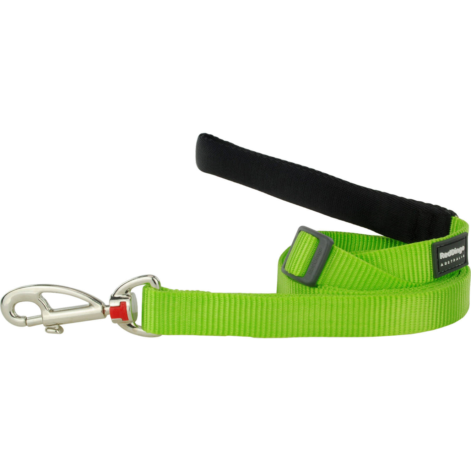 Red Dingo Classic Dog Leash - Lime Green, 15mm x 1.8m
