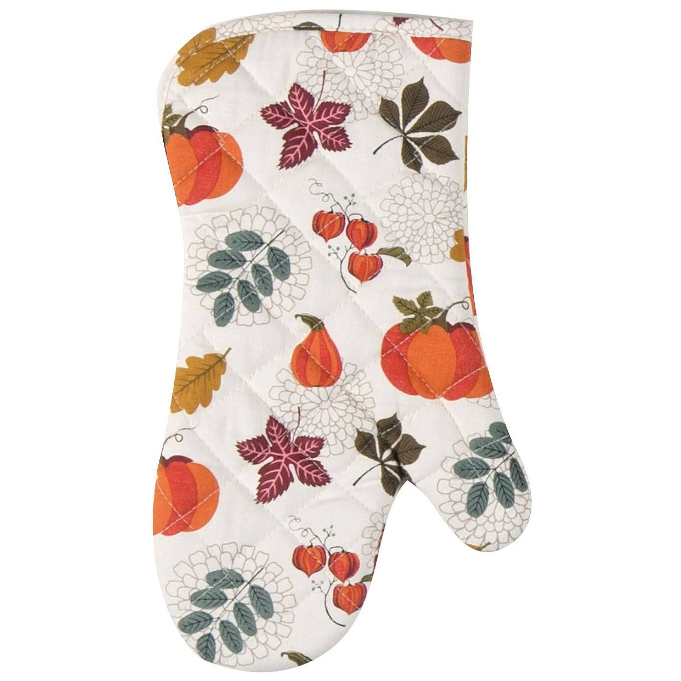 Kay Dee Autumn Leaves and Pumpkins Fall Harvest Kitchen Oven Mitt