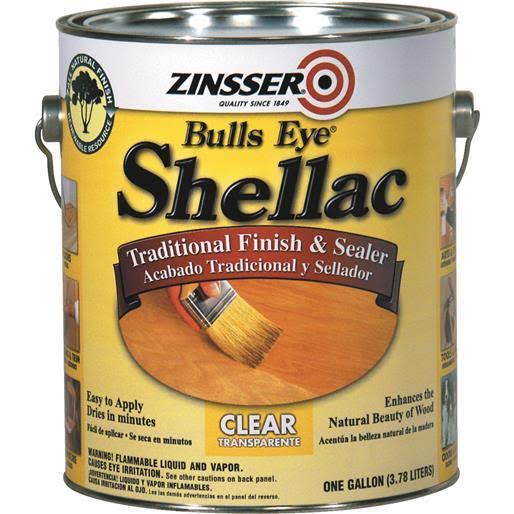 Zinsser Bulls Eye Shellac - Clear, 1 Gallon