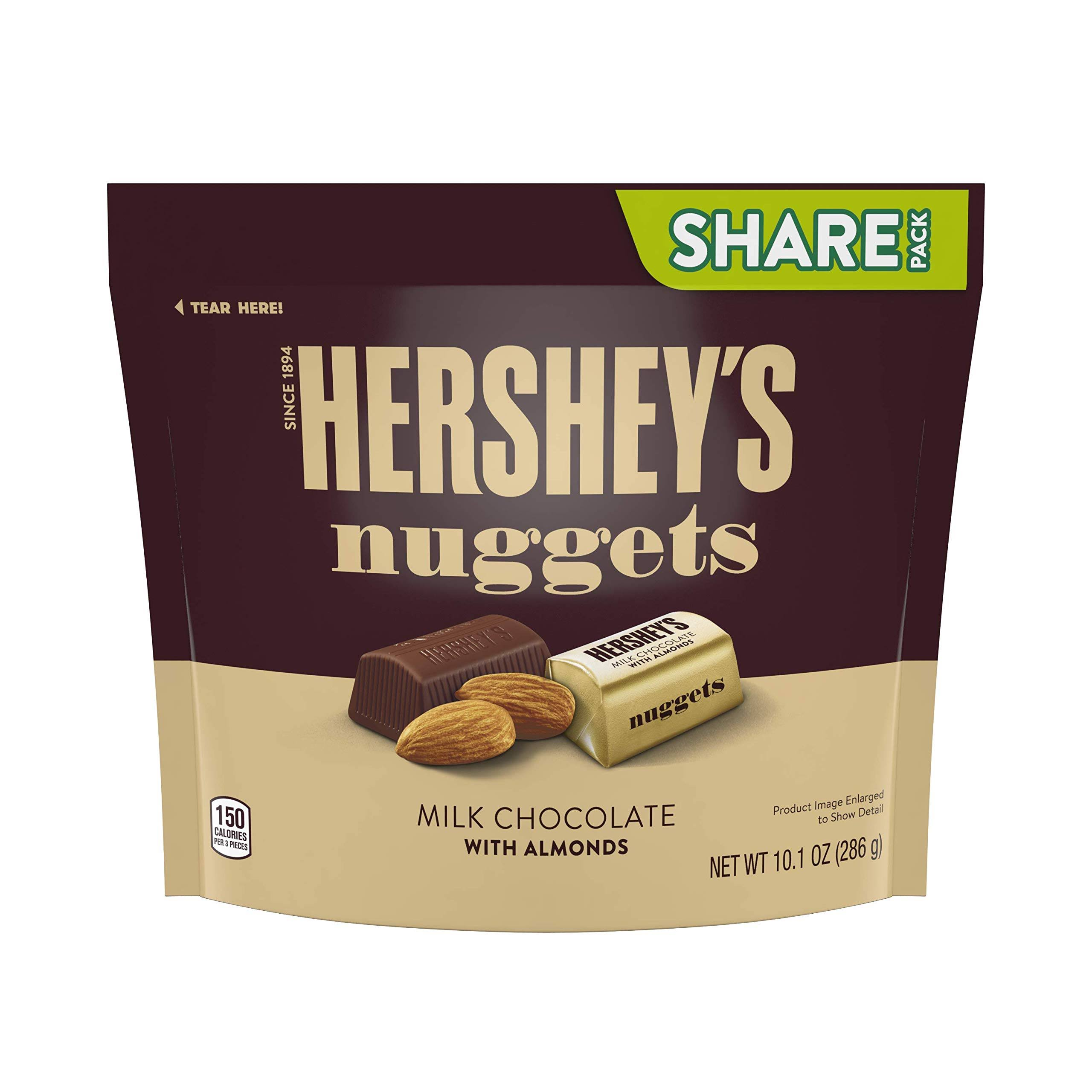 Hershey's Nuggets Milk Chocolate Candy - with Almonds, 286g