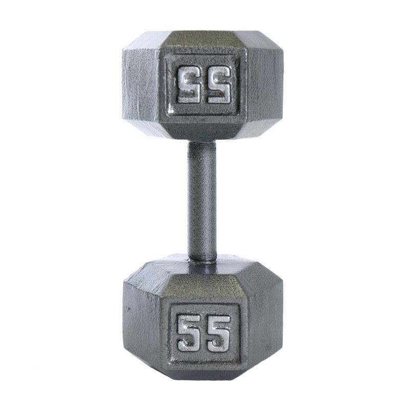 Cap Barbell Cast Iron Hex Dumbbell - 55lbs
