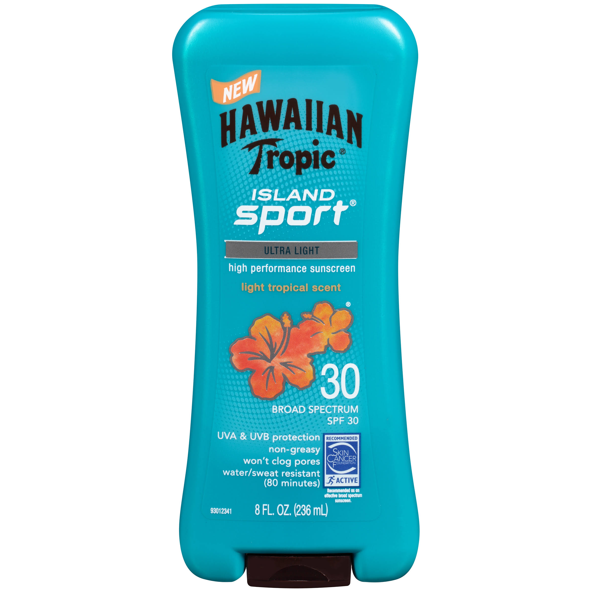 Hawaiian Tropic Island Sport Ultra Light Sunscreen - SPF 30, 8oz
