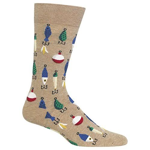 Hot Sox Men's Fishing Lures Crew Socks