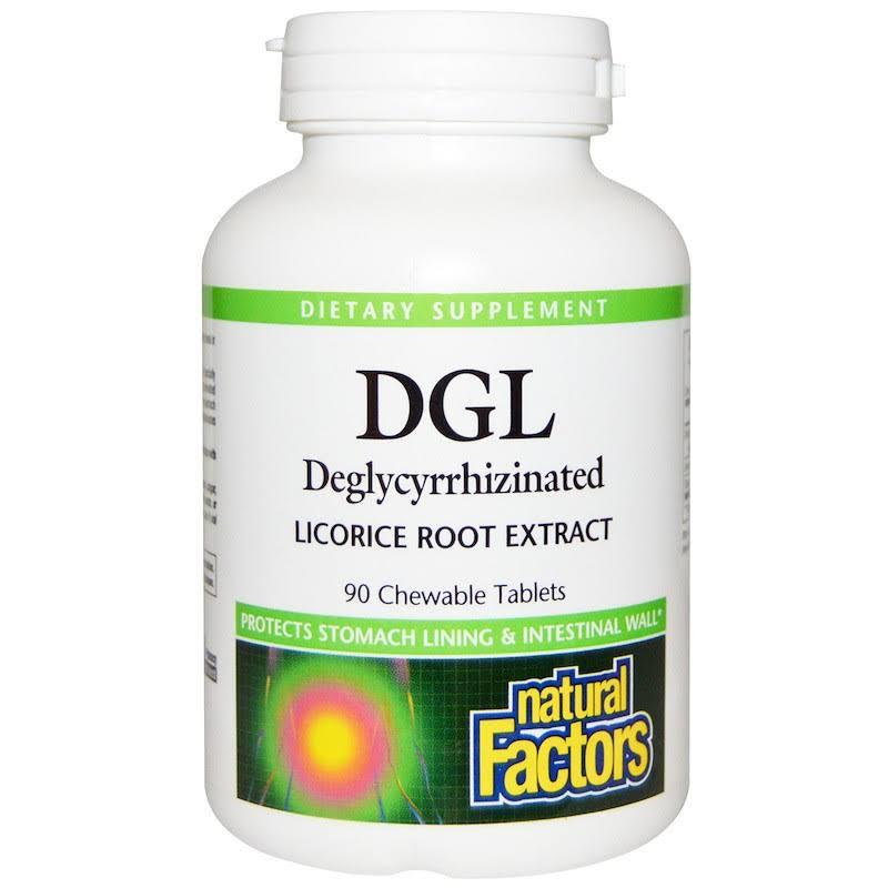 Natural Factors DGL Chewable - 90 Chewable Tablets, 400mg