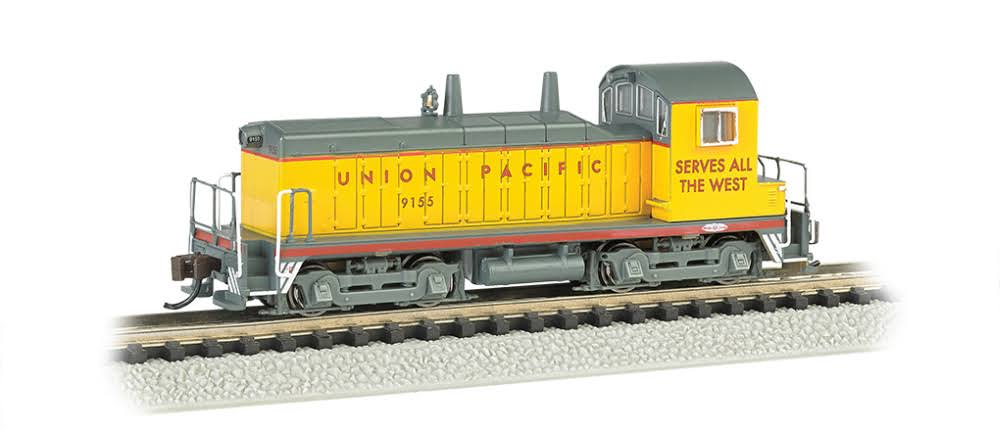 Bachmann 61651 N Scale EMD NW-2 Switcher Locomotive #9155 DCC Equipped Union Pacific-DCC