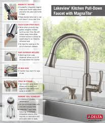 Faus Flooring Home Depot by Delta Lakeview Single Handle Pull Down Sprayer Kitchen Faucet With