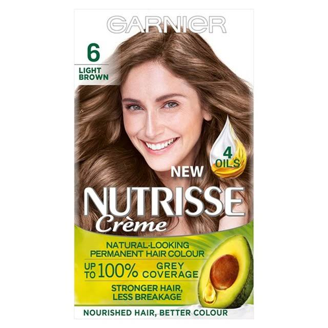 Garnier Nutrisse Permanent Hair Dye - 6 Light Brown