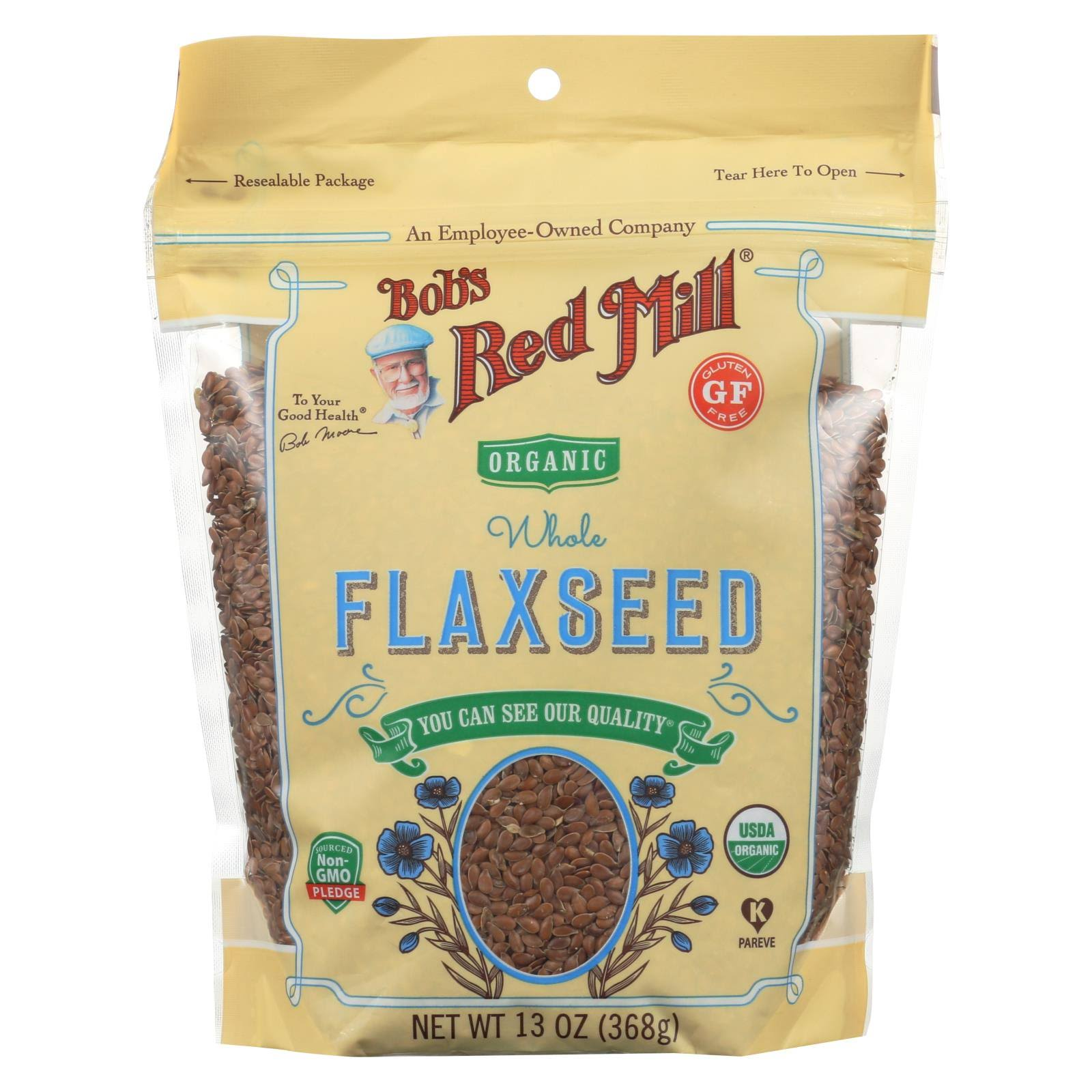 Bob's Red Mill Organic Flaxseed - Whole, 13oz