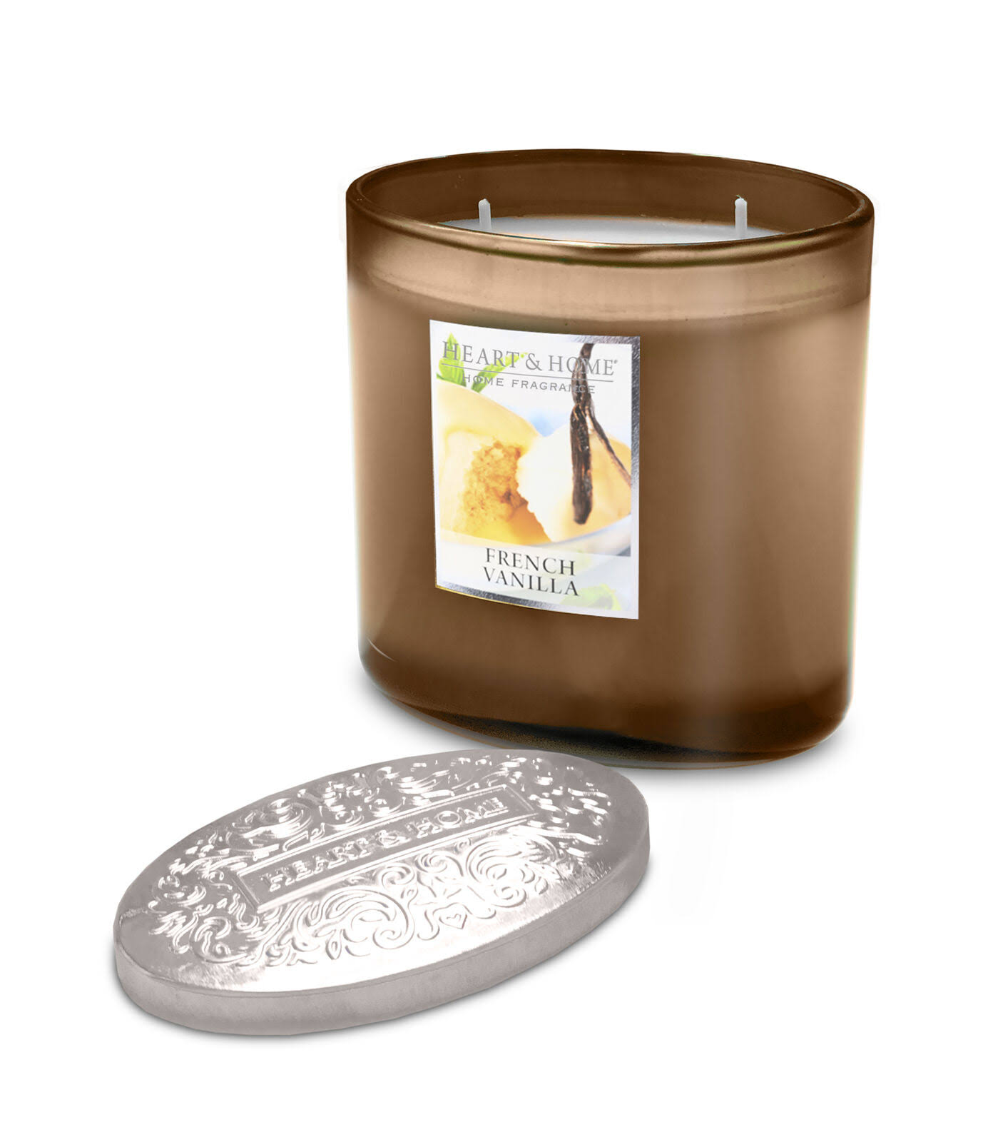 Heart & Home 2 Wick Ellipse Candle - French Vanilla Scented
