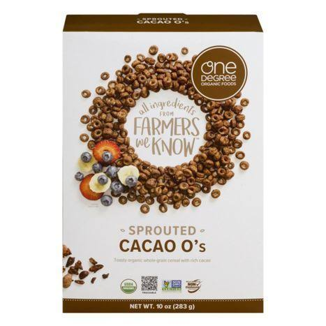 One Degree Organics Sprouted Cacao O's - 10 oz