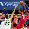 Jazz's Mitchell, Gobert critical of officials after OT loss to Sixers
