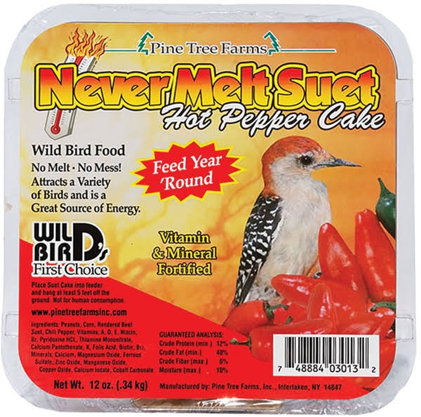 Pine Tree Farms Never Melt Suet Hot Pepper Bird Seed - 350ml