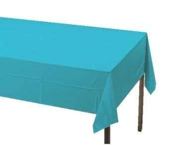 "Creative Converting Paper Banquet Table Cover - Bermuda Blue, 54"" x 108"""