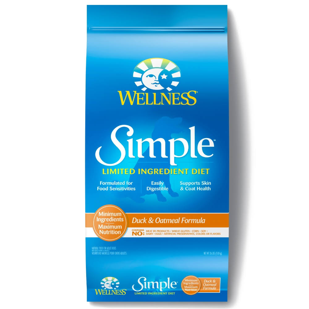 Wellness Simple Natural Limited Ingredient Dry Dog Food - Duck & Oatmeal, 26lb