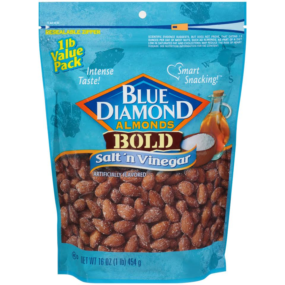 Blue Diamond Almonds Bold Salt 'n Vinegar - 16oz