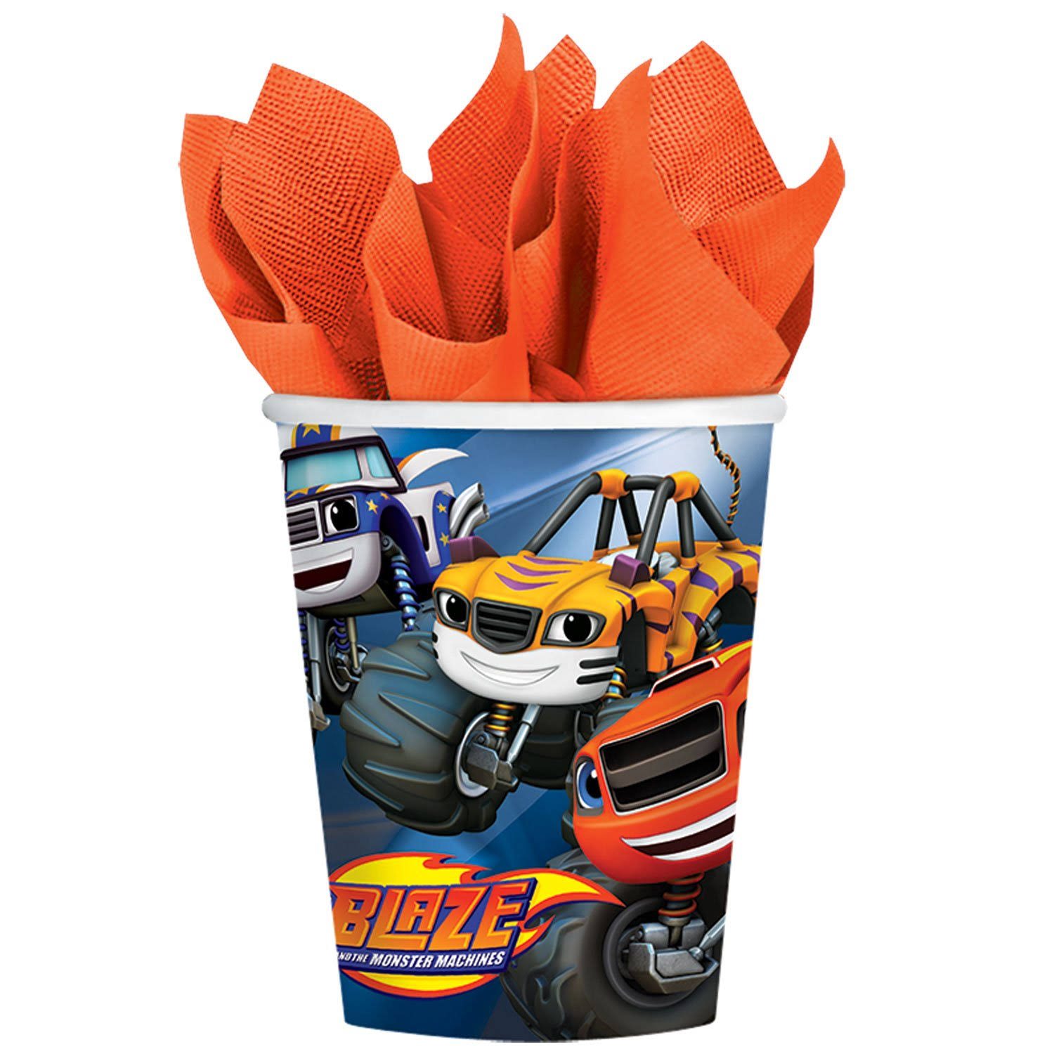 Blaze and The Monster Machines Birthday Paper Cups - 9oz, 8pk