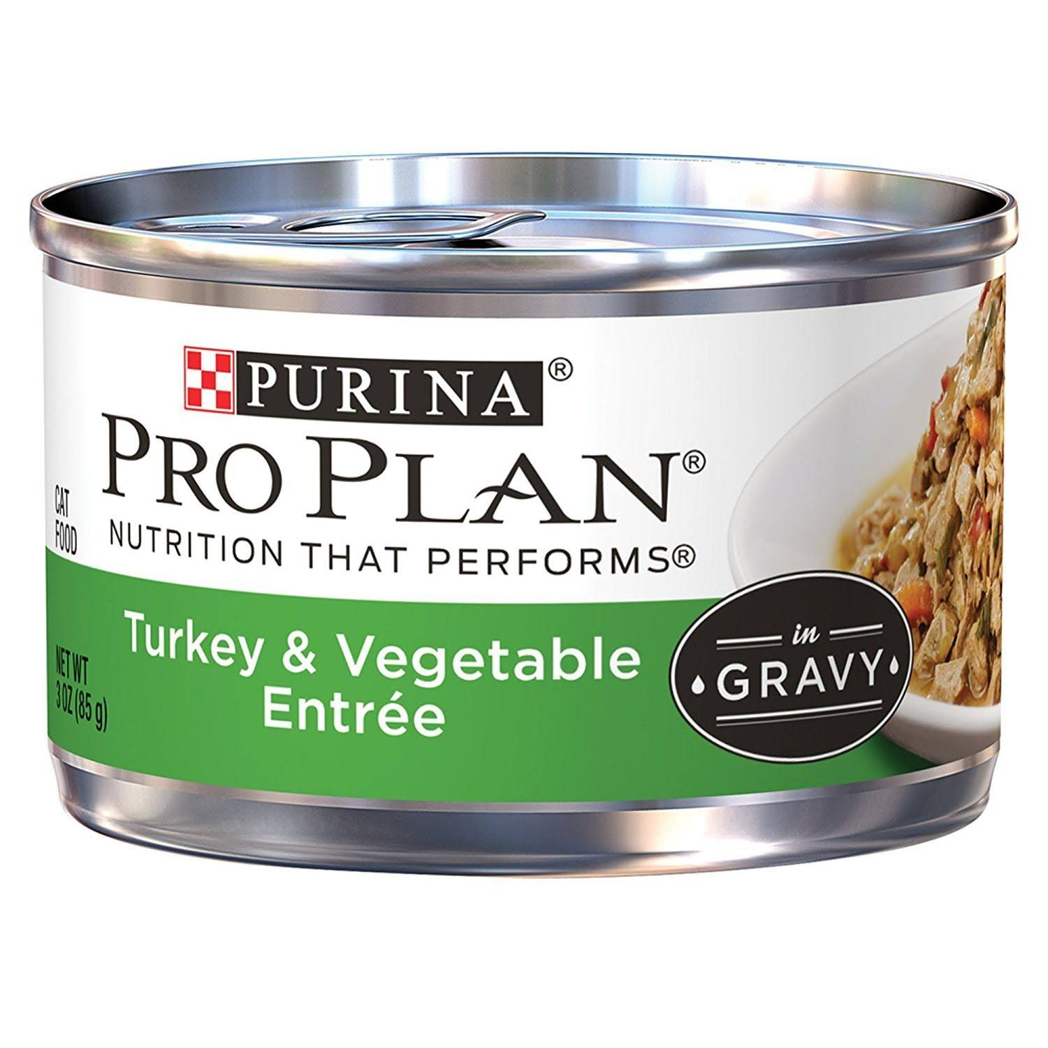 Purina Pro Plan Canned Adult Turkey Vegetable Food