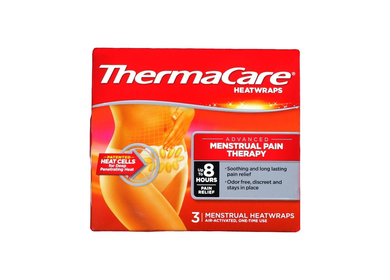 Thermacare Menstrual Cramp Relief - 3 Heat Patches