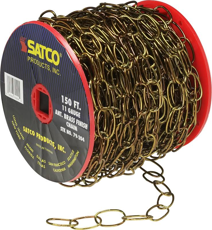 Satco 11 Gauge Chain 50 yds (150 ft) to Reel / 1 Reel to Master 15lbs