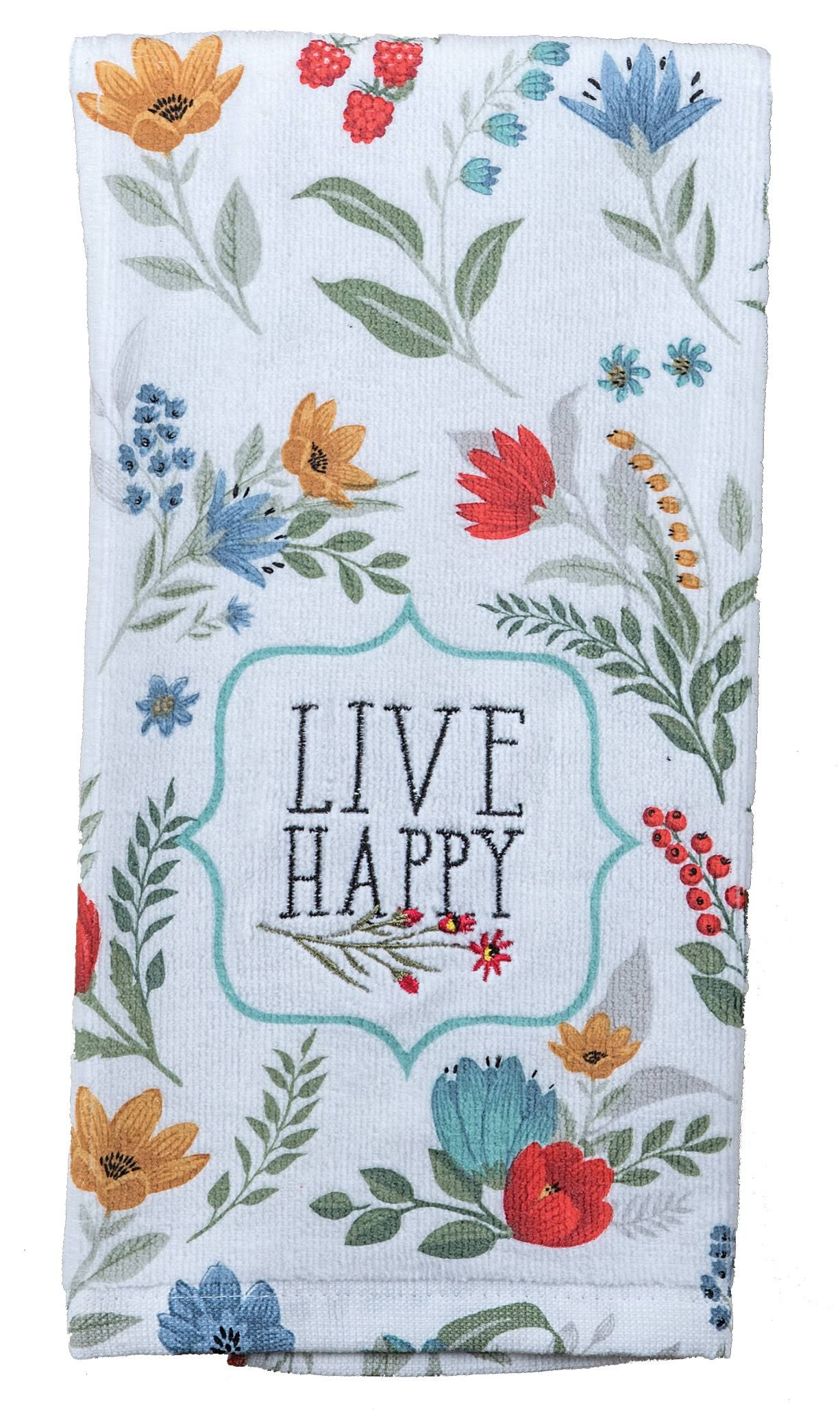 Kay Dee Designs R3940 Blooming Thoughts Embroidered Terry Towel