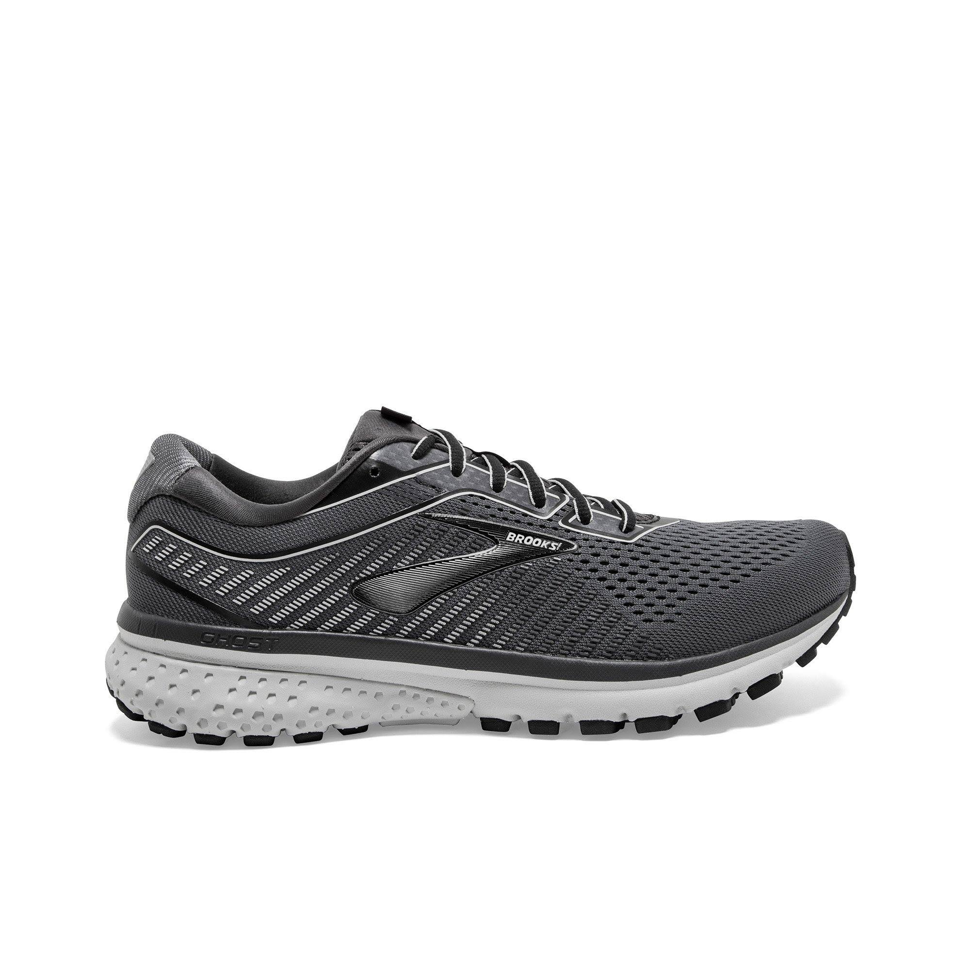 Brooks Men's Ghost 12 Running Shoes, Grey - Size 10.0