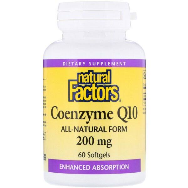 Natural Factors Coenzyme Q10 200mg Softgels - 60 Softgels