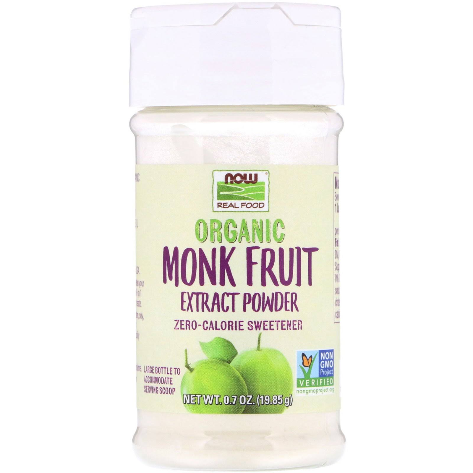 Now Foods Organic Monk Fruit Extract Powder - 0.7oz