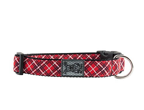 RC Pets Adjustable Nylon Dog Clip Collar - Red, Small