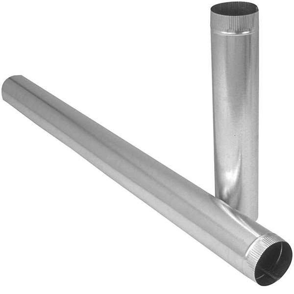 "Imperial Gv0368 Galvanized Steel Furnace Pipe - 5"" x 24"""