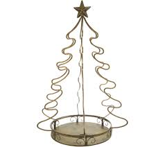 Bethlehem Lights Christmas Trees Qvc by Indoor Outdoor Metal Pineapple Or Tree Accent By Valerie Page 1