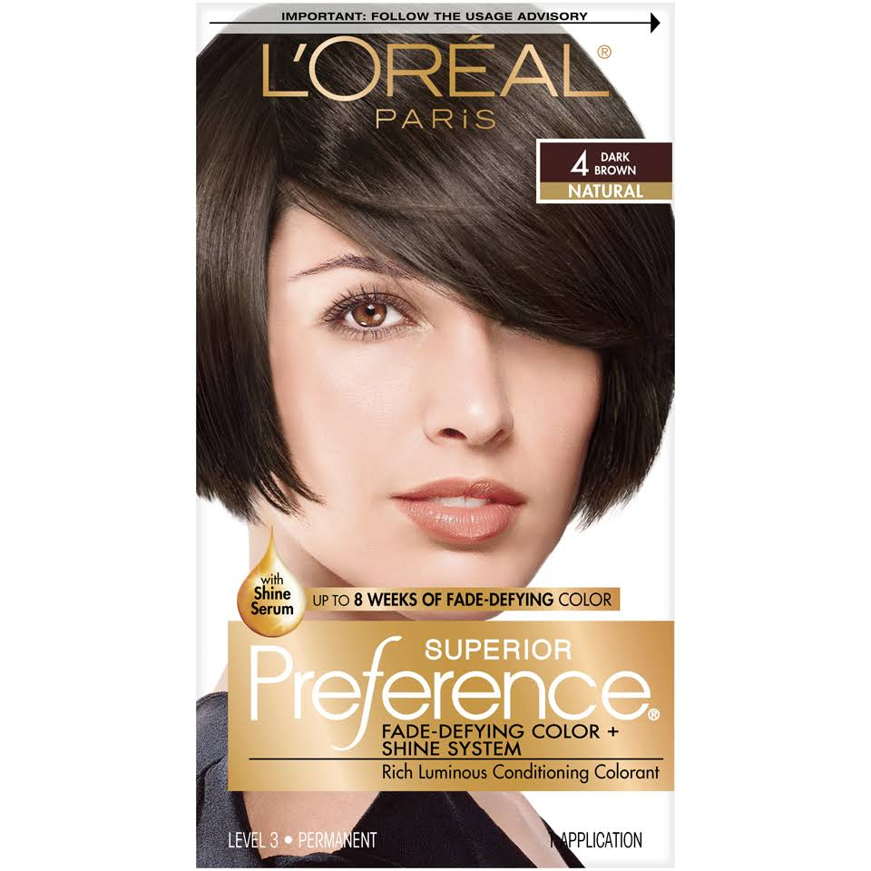 L'Oréal Paris Superior Preference Fade-Defying Color + Shine System - 4 Dark Brown