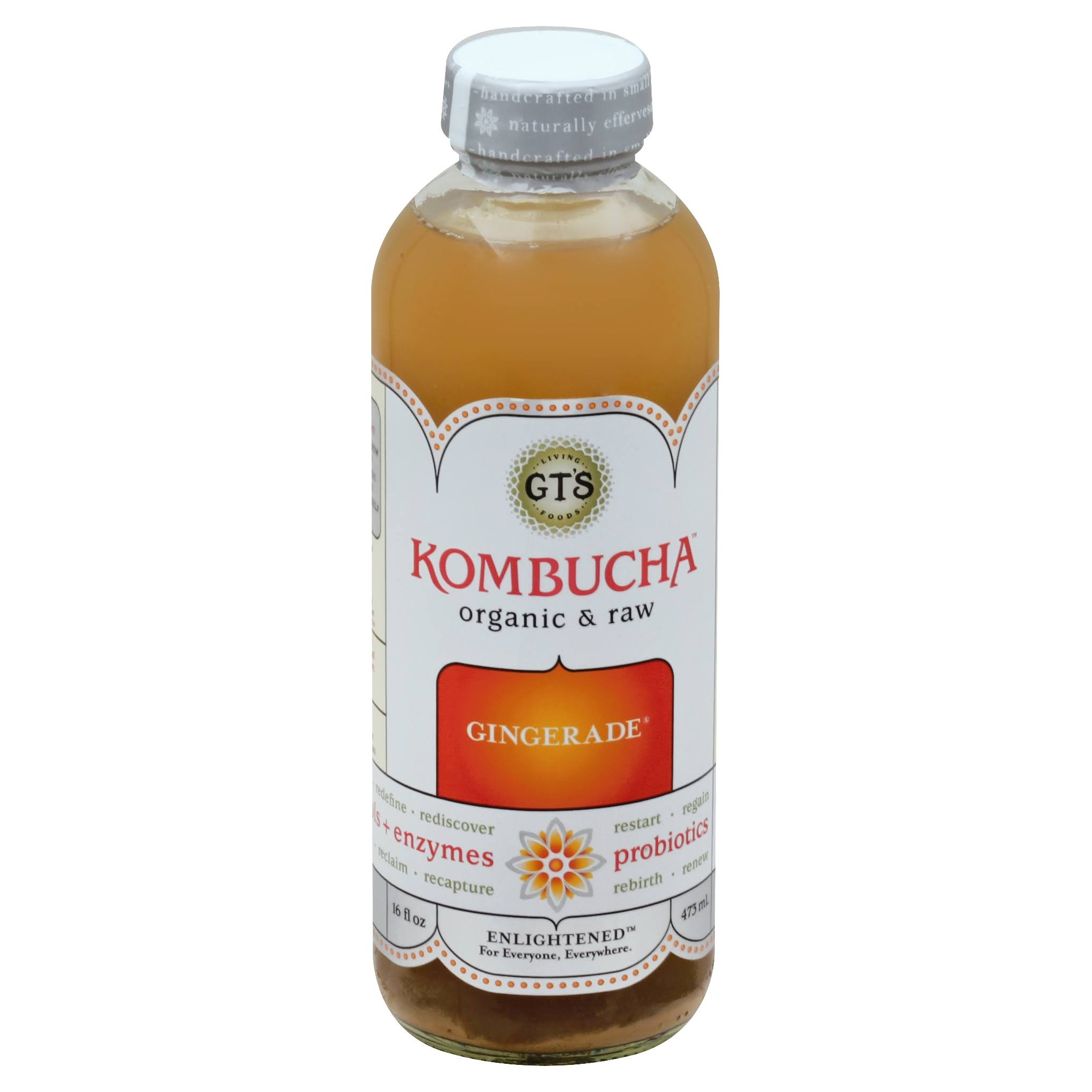 GT's Kombucha Organic and Raw Gingerade - 16.2oz