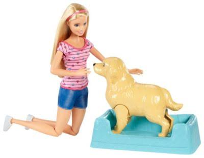 Barbie Newborn Pups Doll and Pets Playset