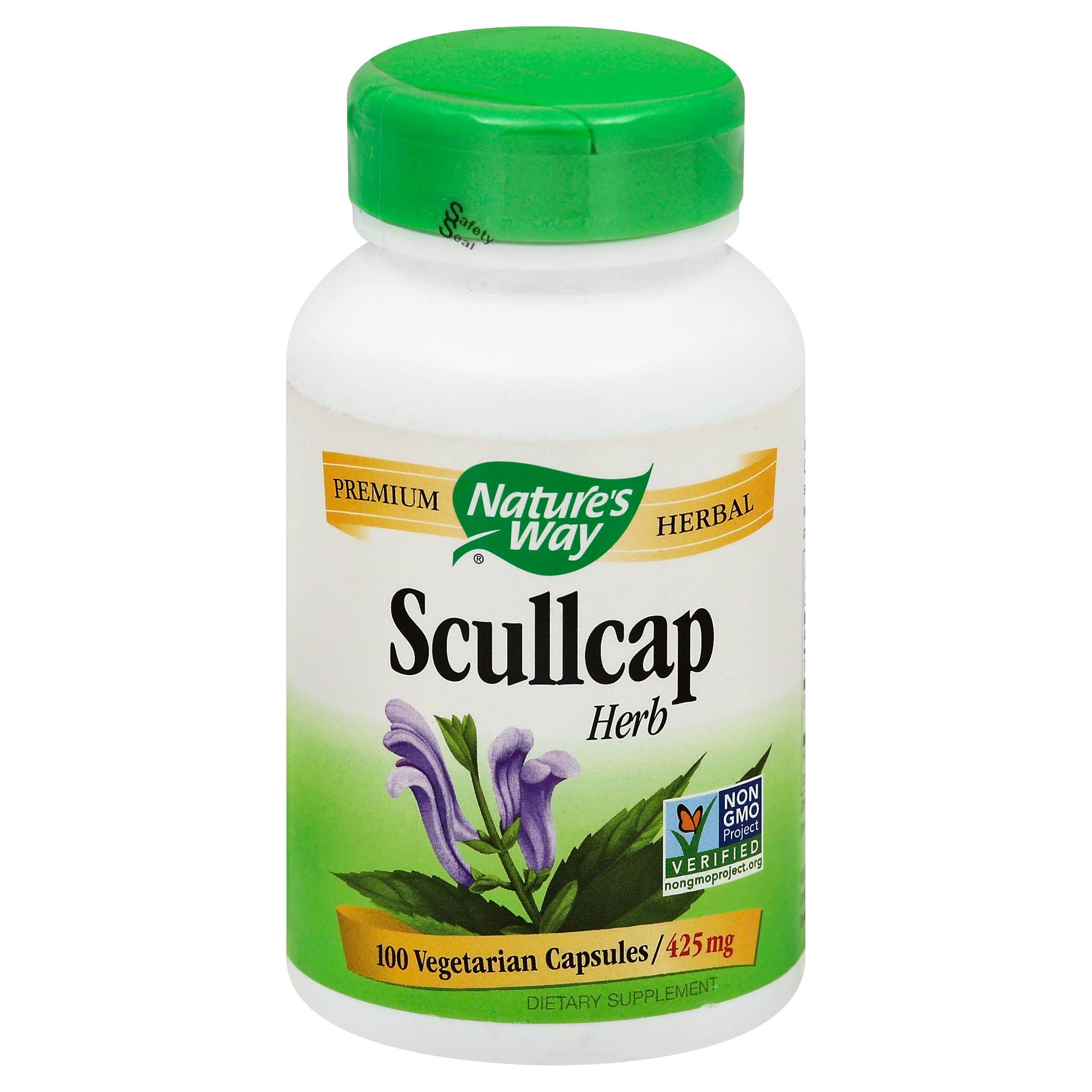 Nature's Way Scullcap Herb Dietary Supplement - 100 Capsules
