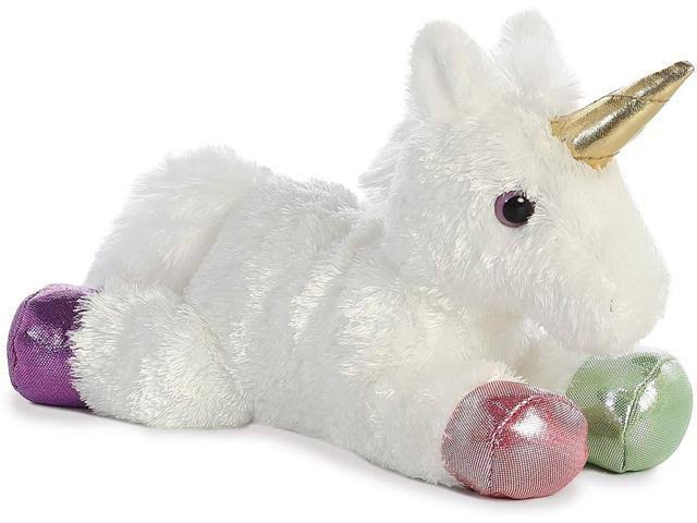 Aurora Sparkle Tales Rainbow Unicorn Plush Toy - 8""